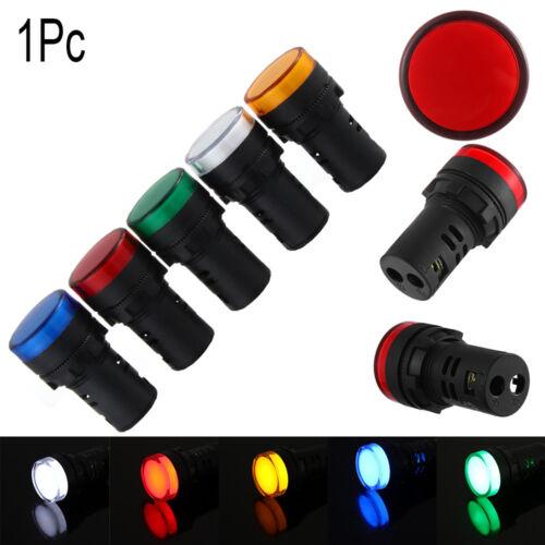 22mm LED Indicator Pilot Light Signal Lamp Panel 5V 12V 24V 110V 220V