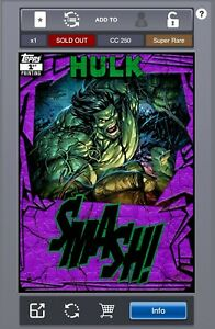 Topps-MARVEL-Collect-DIGITAL-Card-Hulk-Smash-1st-Printing-10-250cc