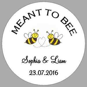 Meant to bee stickers - Personalized Honey Favors - Meant to Bee
