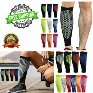 Shin Guards Soccer Compression Leg Sleeve Protective Calf Pads Football Support