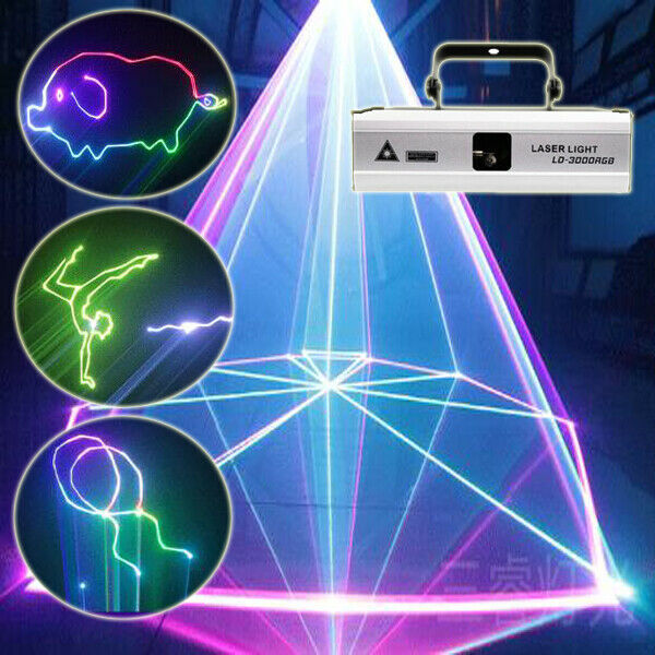 2W/3W ILDA RGB dj laser lights/disco/stage Projector effect For home party show