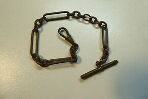 ANTIQUE-BRASS-FOB-CHAIN-FOR-POCKET-FOB-WATCH