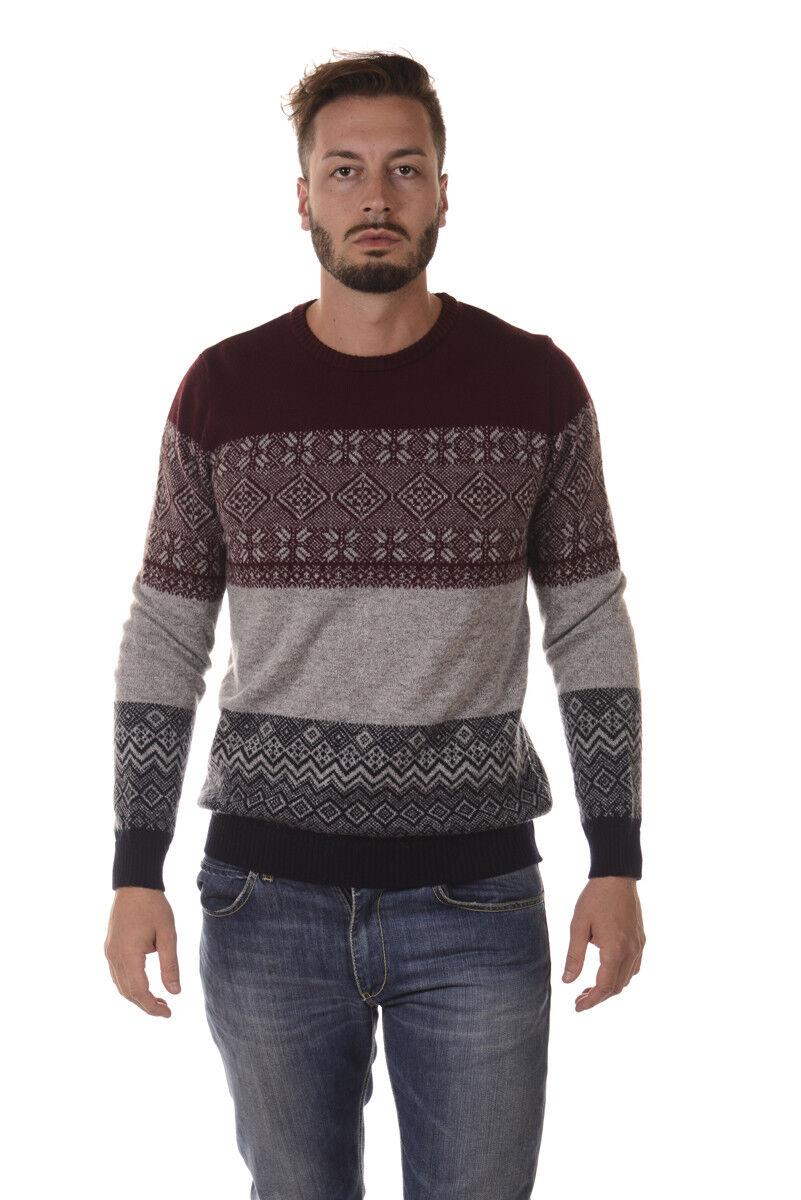 Maglia Maglione Daniele Alessandrini Sweater  Herren Bordeaux FM91613605 2314