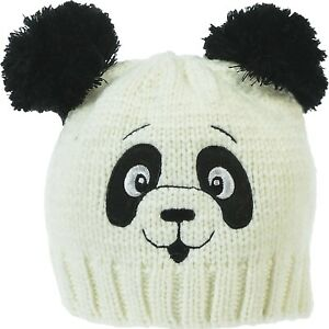 Image is loading Women-039-s-Panda-Knitted-Hat-Animal-Beanie- f74b8259076