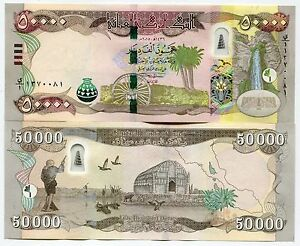 Image Is Loading 50000 New Iraqi Dinars 2017 With Security