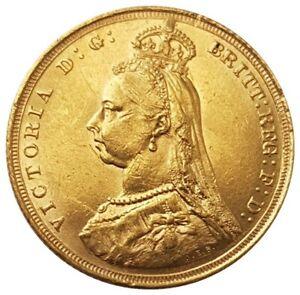 1888-S Victoria Sydney Jubilee Head Sovereign RARE - DISH.S9