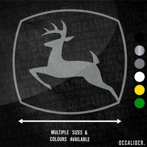 John Deere Badge Contour Autocollant Plusieurs Tailles /& Couleurs Tondeuse