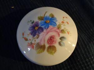 Caja De Joyería Medicamentos Redondo Ornamentación Flor Porcelana Limoges Castel