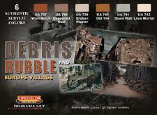 Lifecolor LFC-CS31 - Debris Rubble & Europe Village Diorama Acrylic Set