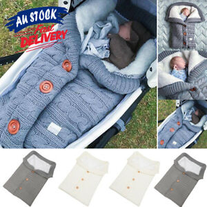 Winter-Wrap-Thick-Sleeping-Bags-Baby-Swaddle-Blanket-Warm-Infant-Stroller-Knit