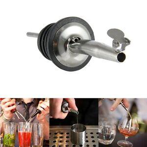 2X Stainless Steel Liquor Spirit Pourer Flow Wine Bottle Pour Spout Stoppers