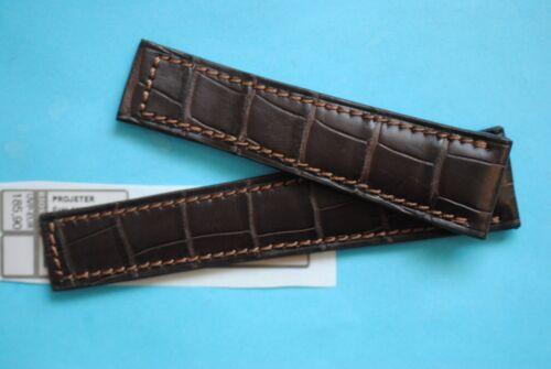 20/16mm Louisiana Bracelet Croco, Montre Braun Pour Tag Heuer Fermoir Dépliant
