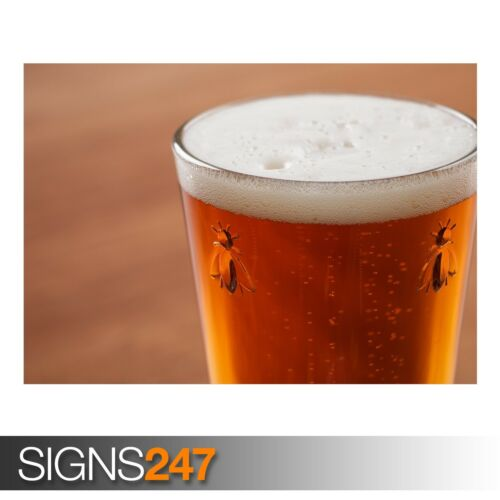 Photo Picture Poster Print Art A0 A1 A2 A3 A4 GLASS OF BEER AE753