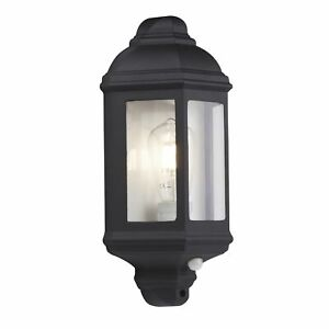 Searchlight-Outdoor-amp-Porch-Wall-Light-Black-Flush-Ip44