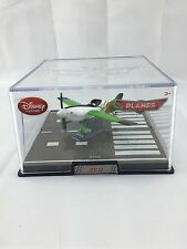Disney Store Planes Zed Die Cast Plane In Collector's Case (CASE HAS A CRACK)
