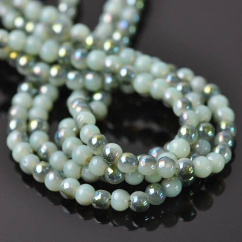 Wholesale 4 mm Round Crystal Glass Charms Loose Spacer Beads Findings 300pcs