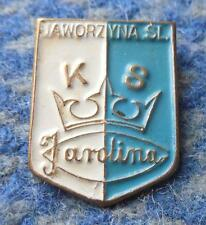 KAROLINA JAWORZYNA SLASKA POLAND FUSSBALL FOOTBALL SOCCER 1970's RARE PIN BADGE