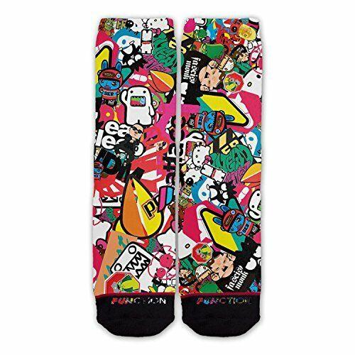 Function Jdm Sticker Bomb Fashion Socks Tuner Japan Cartoon Pattern Car Race