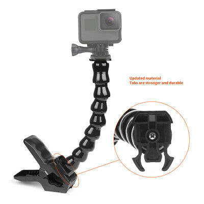 1//4-20 Screw Flexible Jaws Grip Clamp Mount for GoPro Hero Camera