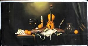 American ANTHONY FRANZIA Vintage Still Life Oil Painting  signed (unframed)