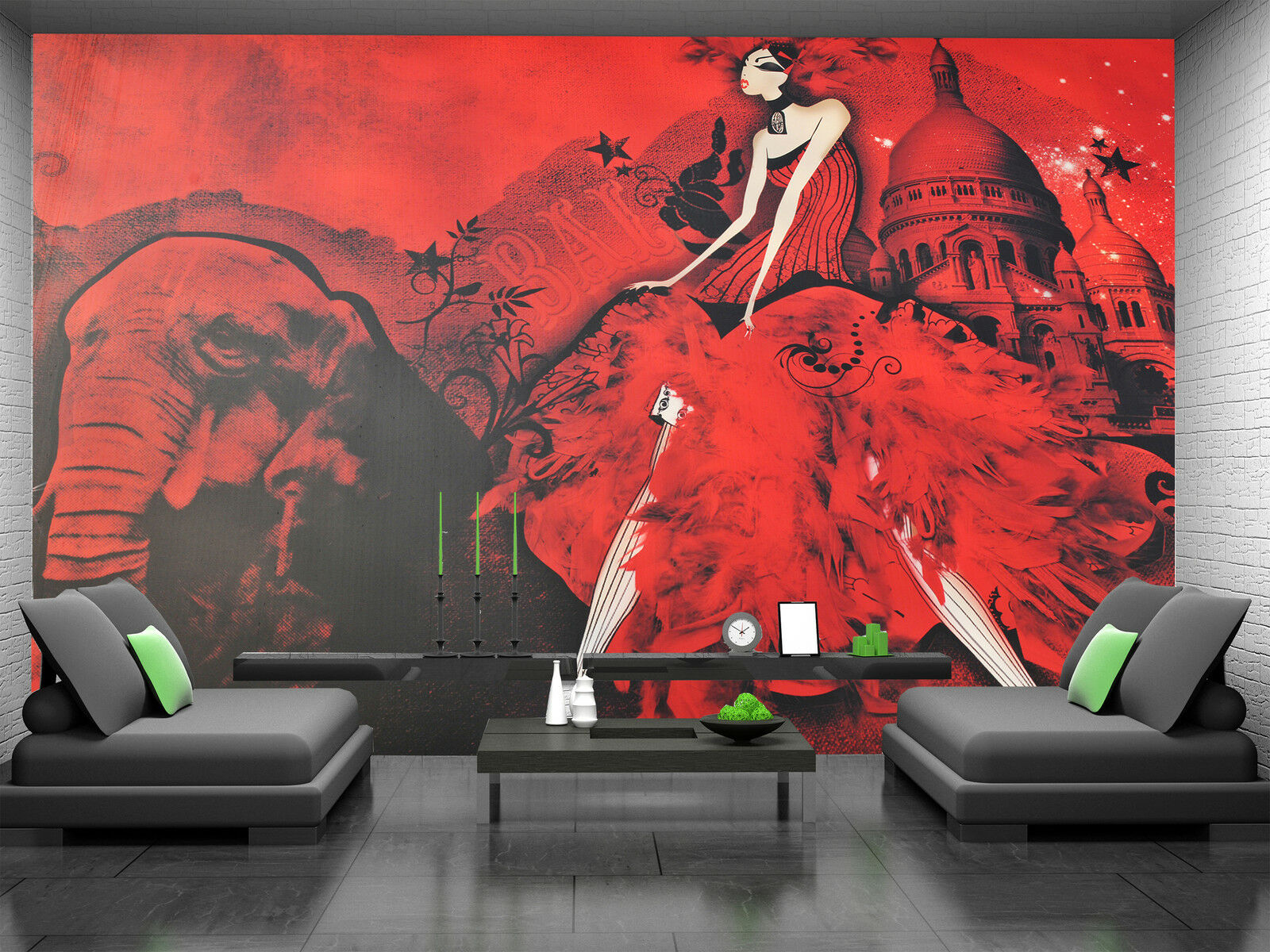 Moulin red Wall Mural Photo Wallpaper GIANT DECOR Paper Poster Free Paste