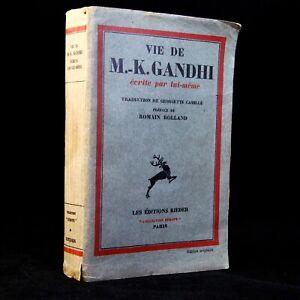 🌓 EO trad fr Vie de Gandhi écrite par lui-même Préf Romain ROLLAND 125/230 1931