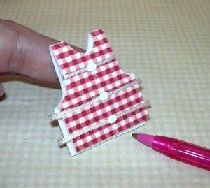 Miniature-RED-GINGHAM-Foam-Life-Vest-Jacket-Preserver-Small-DOLLHOUSE-1-12