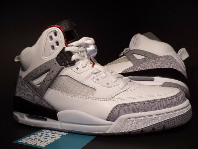 cbcdf400617 2007 Nike Air Jordan SPIZIKE WHITE CEMENT COOL GREY BLACK FIRE RED  315371-101 9