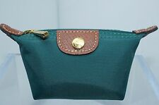 Longchamp Pouch Le Pliage Mini Zip Coin Pouchette Green Pouch Cedar Bag NWT
