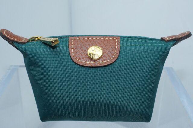 Longchamp Le Pliage Mini Zip Coin Case Cedar Green Cosmetic Receipt