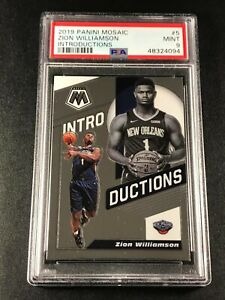 ZION-WILLIAMSON-2019-PANINI-MOSAIC-5-INTRODUCTIONS-ROOKIE-RC-PSA-9-PELICANS-A