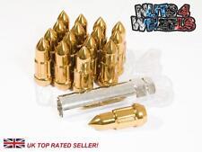 16 Bullet wheel nuts Spline Tuner Gold 12x1.5 fits HONDA CIVIC EG EK EP3 FN2