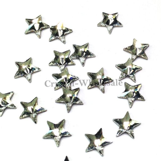 12 pcs Swarovski 2816 Rivoli Star Flat Backs Foiled 5mm clear CRYSTAL (001)
