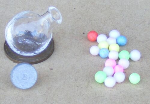 Escala 1:12 20 Gobstopper dulces en un tarro de cristal tumdee Casa de Muñecas Cocina G25ks