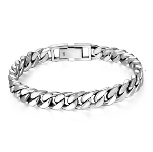 Silver Bracelet Men Real 925 Sterling