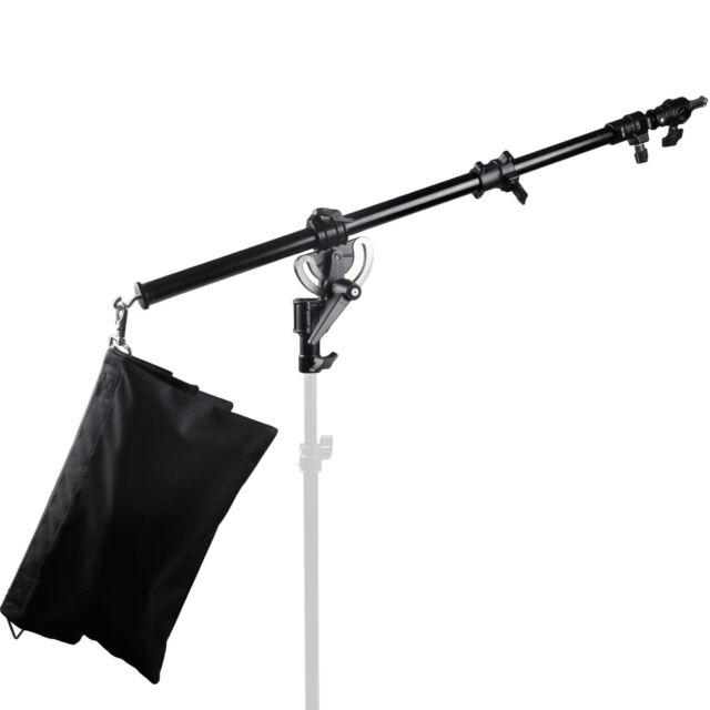Metal Photography Video Studio Boom Arm with Grip Head Clamp And Sandbag kit NEU