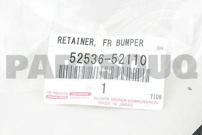 Genuine Toyota Parts 52549-35020 Driver Side Front Bumper Cover Retainer