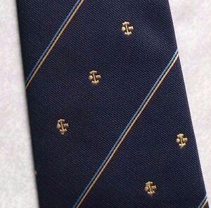 IngéNieux Vintage Cravate Homme Cravate Company Logo Crested Club Association Société Navy-afficher Le Titre D'origine
