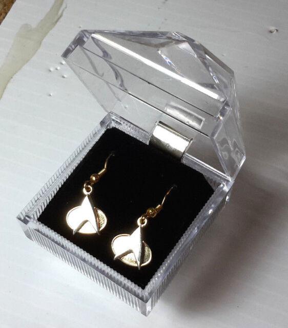 Star Trek Next Generation Communicator Badge Earrings Gold Ebay