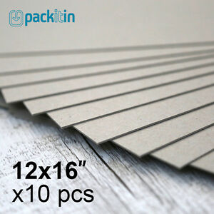12x16-034-Backing-Boards-10-sheets-700gsm-chipboard-boxboard-cardboard-recycled