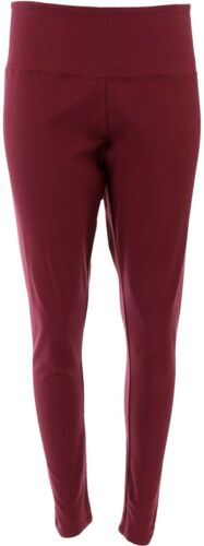 Women with Control Tummy Control Leggings No Side Seam Burgundy L NEW A366538