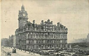 EDINBURGH-SCOTLAND-UK-NORTH-BRITISH-STATION-HOTEL-1910-ADVERTISING-POSTCARD
