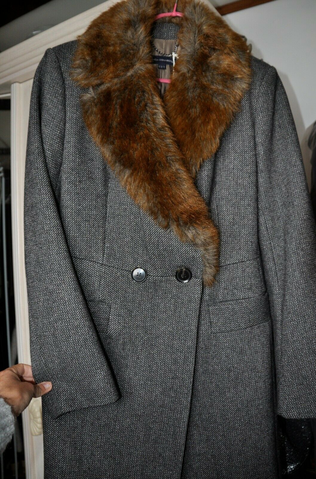 FRENCH CONNECTION NEW LADIES TWEED COAT