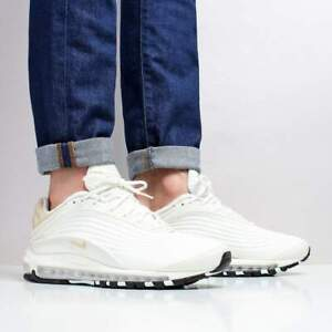 Details about Nike Air Max Deluxe SE Sail Desert Ore Trainers White Footwear