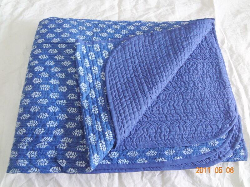 Indigo blu Kantha Copri Letto Lenzuolo, due dimensioni Mandala Trapunta Kantha mnhgv
