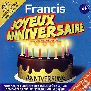 Joyeux Anniversaire Francis 10 Titres Ebay