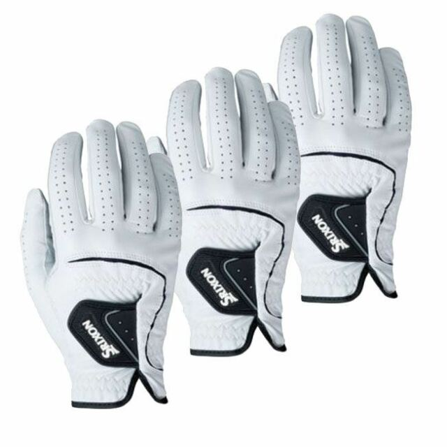 3 x Srixon CABRETTA Leather Golf Gloves RIGHT Hand (for the left handed golfer)