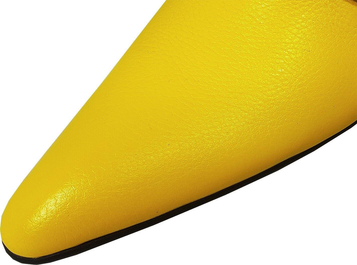 100% Chelsy-Top Modern ITALIANA DESIGNER SLIPPER limoni Guscio Giallo 44 44 44 31c8a4