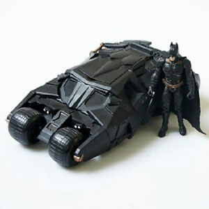 The-Dark-Knight-BATMAN-BATMOBILE-Tumbler-BLACK-CAR-Vehecle-Toys-With-Figure