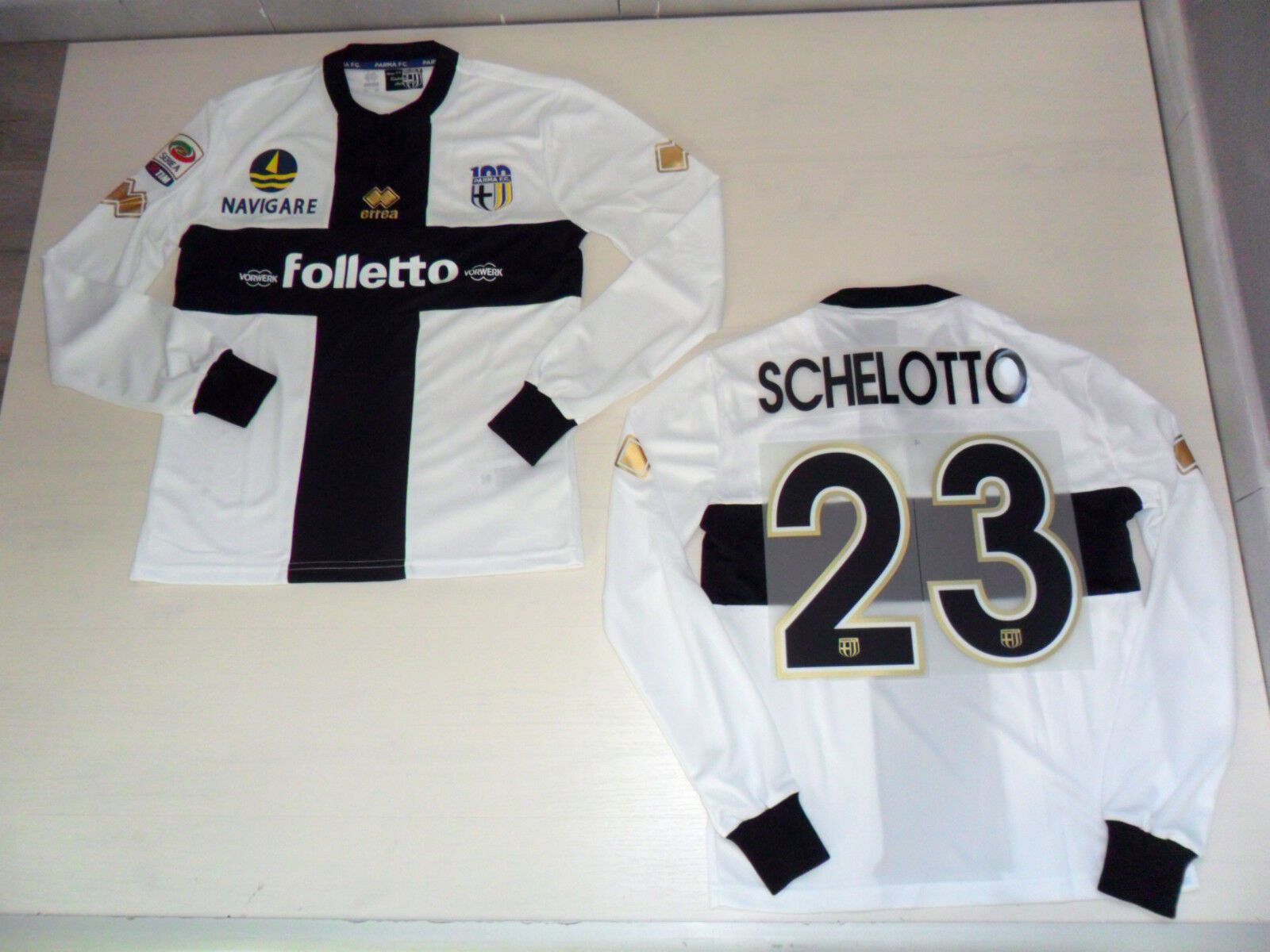 FW13 GRÖßE L SCHELOTTO ISSUE 23 T-SHIRT LANGE ÄRMEL MATCH ISSUE SCHELOTTO TRIKOT JERSEY b9c338